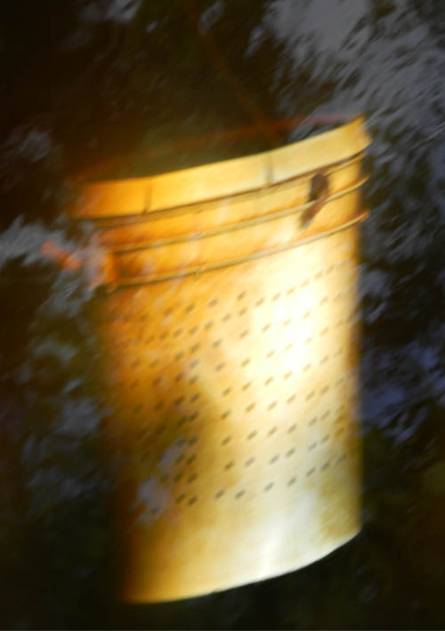 submerged bait bucket