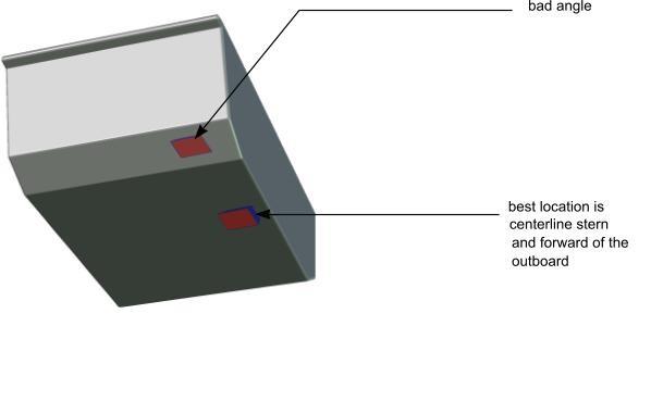 shoot-thru transducer
